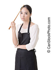 Young Asian housewife