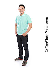 young asian man smiling