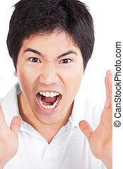 Young Asian Man Yelling