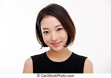 Young Asian pretty business woman close up portrait . -...