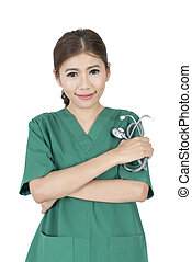 Young Asian woman doctor