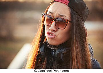 Young asian woman hipster