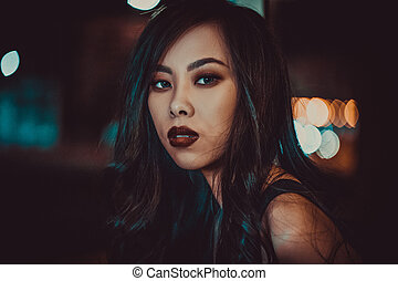 Young asian woman
