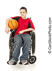 Young Athlete - Disability - Teenage athlete in a...