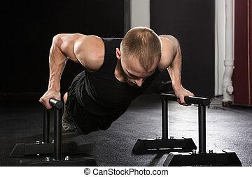Man Doing Push-up Exercise