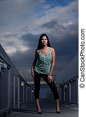 Young attractive asian twenties pacific islander woman