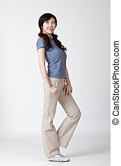 Young attractive Asian woman
