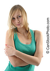 young attractive blonde girl