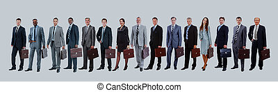 Young attractive business people - the elite business team.