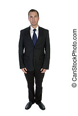 young attractive businessman posing