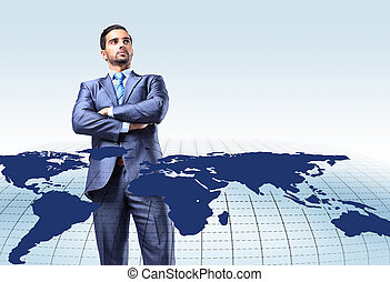 Young attractive businessman with