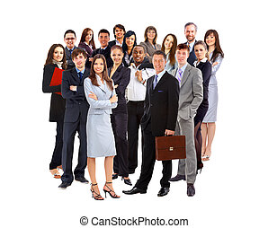 Young attractive businesspeople