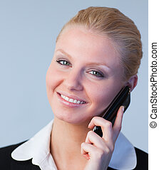 Businesswoman on the phone - Young attractive Businesswoman...