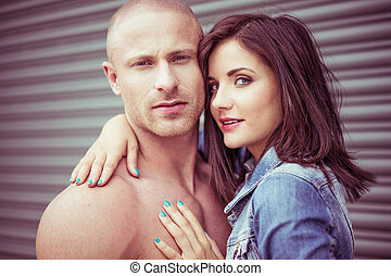 Young Attractive In Love Couple Portrait