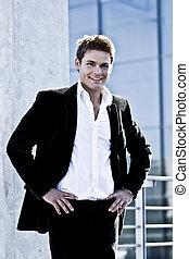 Young Attractive Man In A Corporate Attire