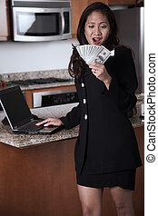 Young attractive thirties asian businesswoman - Young ...