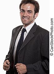 Young attractive twenties caucasian man