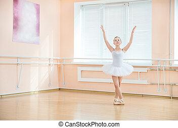 Young ballet dancing student