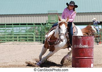 Young Barrel Racer