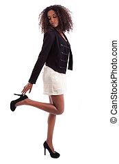 Young beautiful African American woman