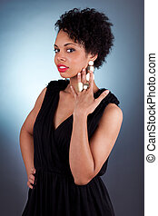 Young beautiful African American woman woman