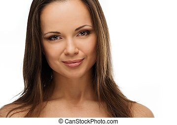 Young beautiful brunette woman portrait