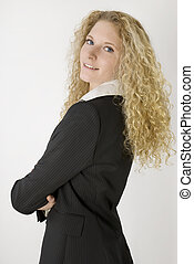 Young beautiful businesswoman,