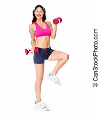 Young beautiful fitness woman.