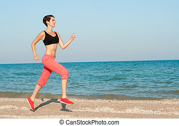girl athlete playing sports - Young beautiful girl athlete ...