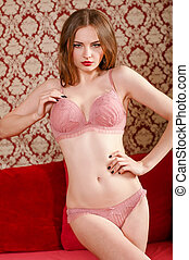 young beautiful girl in lingerie