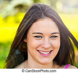 Young beautiful girl portrait smiling