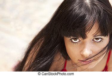 Young beautiful girl portrait