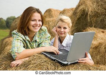 Young farm girls