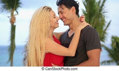 Young beautiful happy couple. - Ukrainian girl and Mexican...