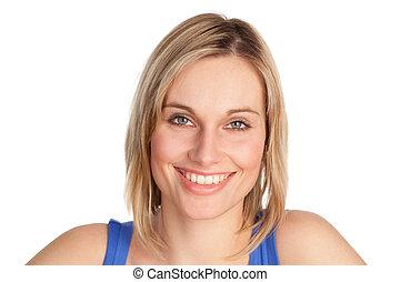 Beautiful model smiling at camera - Young Beautiful model ...