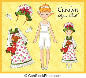 Hand drawn stylish outfits for young girl