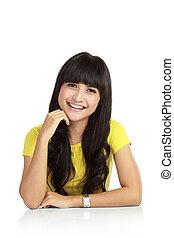 Young beautiful smiling woman
