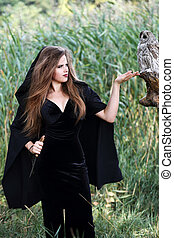 witch holding a dagger