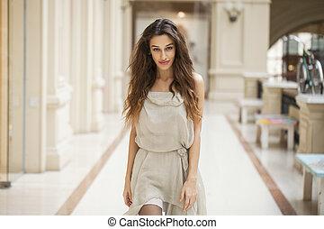 Young beautiful woman - Portrait close up of young beautiful...