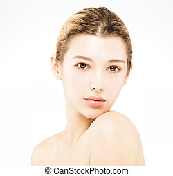 young beautiful woman with beauty face