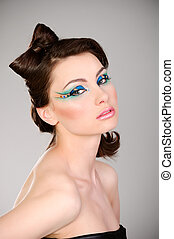young beautiful woman with makeup