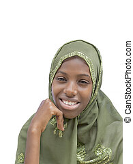 Young beauty wearing a veil