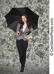 young billionaire woman