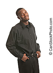 Young Black Business Man Portrait