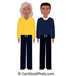 young black couple characters