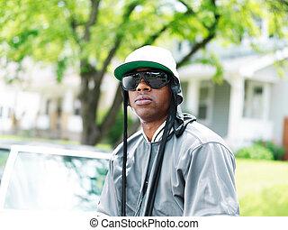 young black man portrait