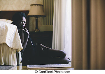 Young black woman