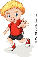 young blonde boy character