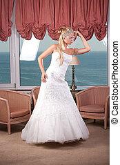 Young blonde bride