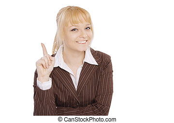 Young blonde business woman